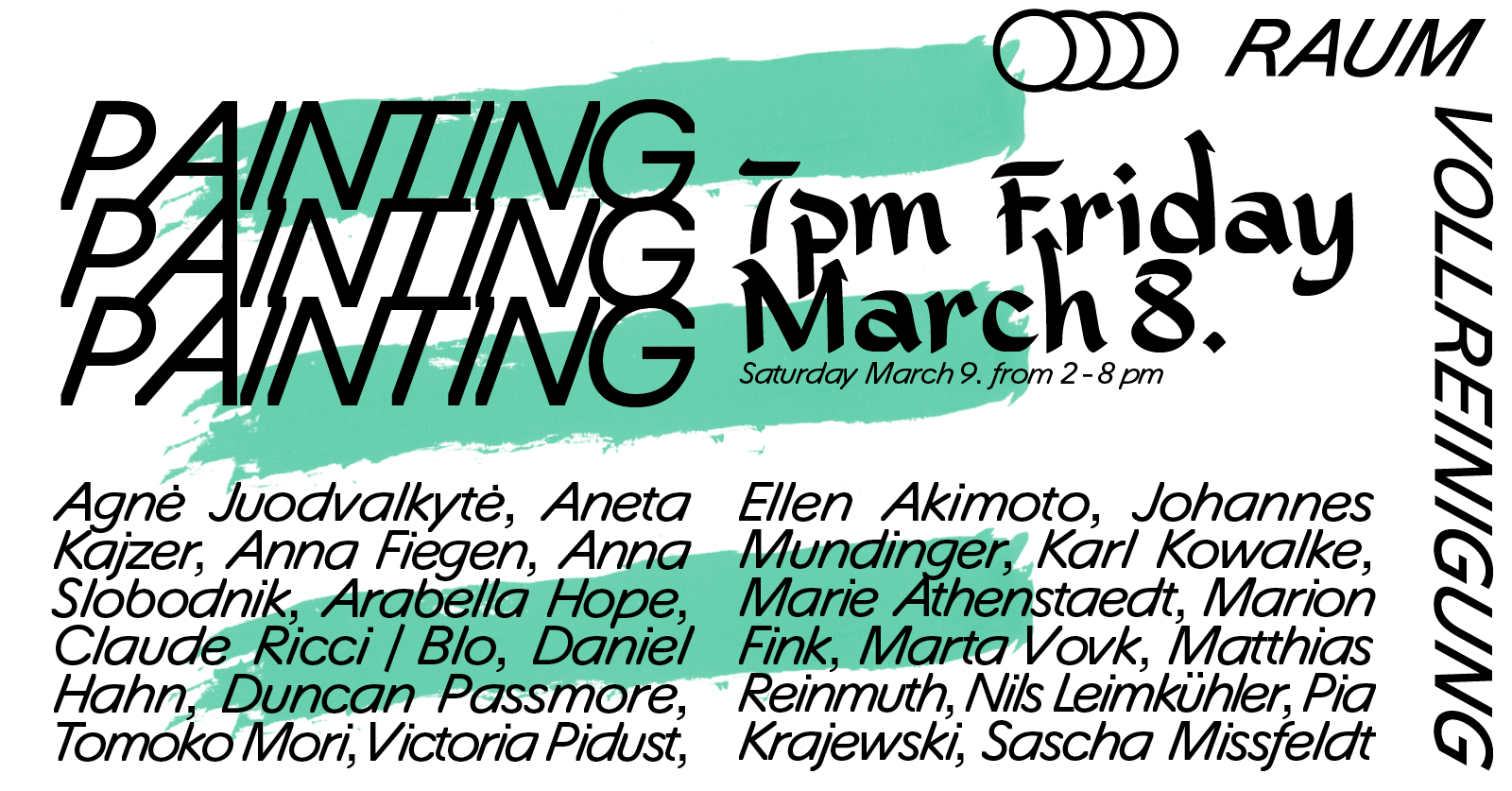 Painting Painting Painting exhibtion flier
